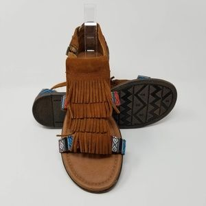 Minnetonka Maui In BAZ Sandal Aztec Fringe Boho
